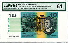 Reserve Bank Australia $10 nd(1991) PMG 64:Choice Uncirculated