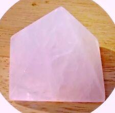 Pirámide De Cuarzo Rosa Reiki ENERGÍA CARGADO Chakra del corazón de cristal amor incondicional