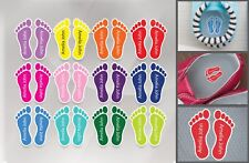 12 Pairs Personalised Tags Stickers Feet for School Shoes Shoe Name Labels E5