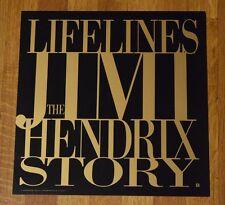 Lifelines The Jimi Hendrix Story 1990 Record Promo Album Flat Art Poster Rare