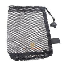 Nylon Mesh Nets Bag Pouch Golf Tennis 15 Balls Carrying Holder Storage Black
