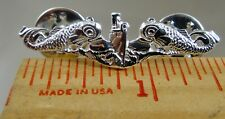 US NAVY Licensed Submarine dolphin mess dress 38mm sterling pin Badge