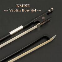 Professional 4/4 Full Size Violin Bow Fiddle Parts Carbon Fiber Horse Hair Black