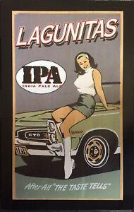 sexy LAGUNITAS GIRL Beer POSTER - Pontiac GTO + IPA Indian Pale Ale