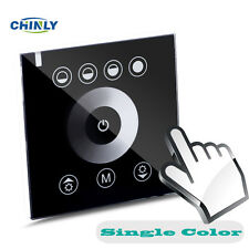 Single Color LED Touch Switch Panel Controller LED Dimmer for Dc12v LED Strip 12-24v Black