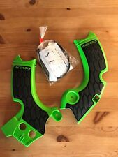 KAWASAKI  KXF 250  KX250F 2017-2018  ACERBIS FRAME GUARDS BLACK & GREEN