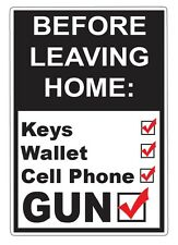 Before Leaving Home Check List Funny Auto Car Decal Sticker Vinyl Graphic