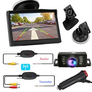 Wireless Car Reversing Backup Camera 5inch Vehicle Rear View Monitor Parking Kit