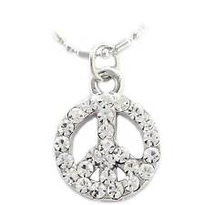 Anklet Ankle Bracelet Chain Jewelry Ak27clr Anti War Peace Sign Symbol Charm