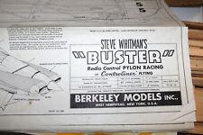 "RC Balsa Airplane Kit - Berkeley Models Steve Whitman's Buster - Wingspan 48"""