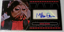Topps Star Wars RETURN OF THE JEDI 3D widevision AUTO/AUTOGRAPH MIKE QUINN