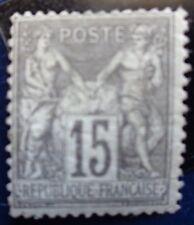 France neuf, n°77, 15c gris, Sage type 2, 1876