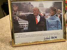 Donald And Mrs trump autographed photo