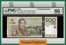"""TT PK 277a 2004 HAITI 500 GOURDES """"COMMEMORATIVE"""" PMG 66 EPQ POP ONE NONE FINER!"""