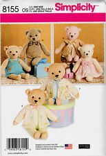 Simplicity Pattern 8155 for Stuffed Bear and Clothes
