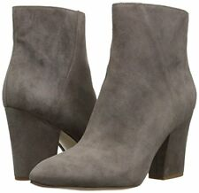 Nine West Savitra Grey 6 M Suede Ankle Fashion Fashion Boots Booties Block heels