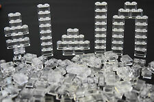 ☀️LEGO New Lot 25 Clear Transparent Wall Elements 1x2 brick Trans White Window