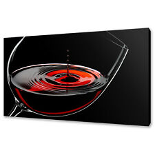 GLASS OF RED WINE CANVAS PRINT PICTURE WALL ART FREE POSTAGE KITCHEN DECOR