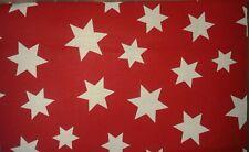 Stoffrest Basteln Patchwork Sterne rot