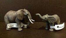 Eikoh Miniature Planet (like Kaiyodo) African Elephant & Cub Baby Pvc Figure