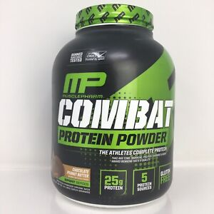MP MusclePharm Combat Protein Powder, Chocolate Peanut Butter, 4 lbs (1814 g)