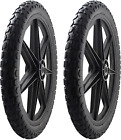 Tire Assembly Rubbermaid Big Wheel Carts Black Heavy Duty Composite Plastic New