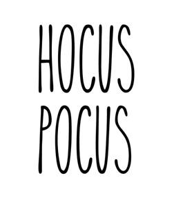Rae Dunn Style HOCUS POCUS Vinyl Decal Sticker - DIY Halloween Gift/Mug/Jar