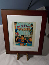 SUPERMAN THE MAN OF STEEL #4 LEX LOIS FRAMED ORIGINAL ACETATE PAGE ONE OF A KIND