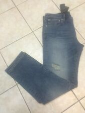 Armani Exchange Mens Slim Straight Fit Destructed Jeans Indigo 36S  NWT $120