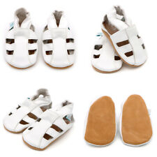 a4de1e9b0 Dotty Fish Soft Leather Baby and Toddler Sandals (unisex) Newborn White