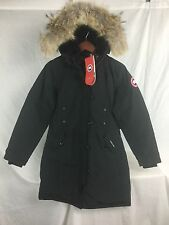 NEW CANADA GOOSE KENSINGTON PARKA BLACK WOMEN XL 2506L DOWN COYOTE AUTHENTIC