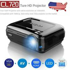 Mini Portable LCD LED HD Projector 720P HDMI Home Theater Computer Laptop Screen