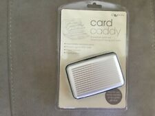 Aluminium RFID Theft proof card caddy wallet, silver, new in unopened packaging