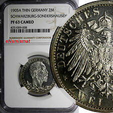 German Schwarzburg-Sondershausen.Karl Gunther PROOF 1905 A 2 Mark NGC PF63 Cameo