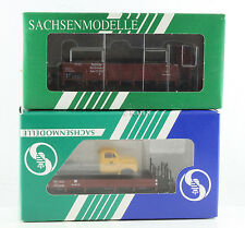 SACHSENMODELLE HO GAUGE PAIR OF ASSORTED DR / DB GOODS WAGONS