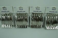 Diane by Fromm Duck Bill Metal Hair Clips 3 1/2 Inch 12 Pack D210C Lot of 4 New