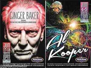 GINGER BAKER Cream AL KOOPER CONCERT HANDBILL MINI  POSTER BB KINGS NYC