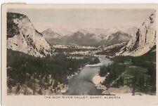 Bow River Valley BANFF SPRINGS Golf Course Alberta Canada Gowen RPPC 174