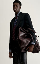 RRP £2295 Dunhill Bag 100% Leather  Duke Large Zip TOTE BNWT Burgundy