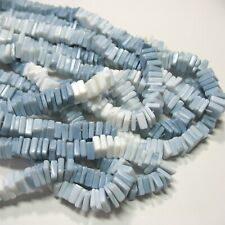 """African Blue Opal 6.5mm-7.5mm Heishi Flat Square Rondelle Beads 8"""" Strand"""