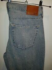 Stylish BNWT denim jeans Abercrombie & Fitch paint spatter, rips & frays W32 L32