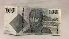 Fraser Cole $100 Australian Dollar Note 1992 ZHV