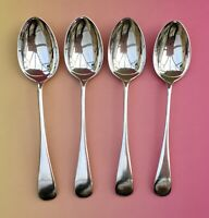W HUTTON DESSERT SPOONS x4 - OLD ENGLISH SILVER PLATE CUTLERY SHEFFIELD