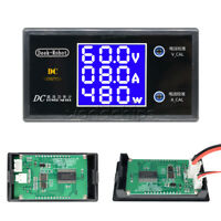 Digital DC 100V 10A 1000W LCD Display Voltmeter Wattmeter Current Power Tester