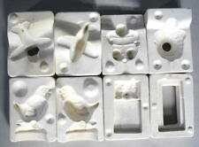 Duncan Ceramic (4) TINY Molds - chick, turtle, matchbox mouse, airplane