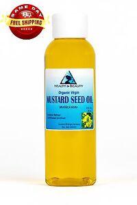 MUSTARD OIL ORGANIC UNREFINED VIRGIN COLD PRESSED RAW PREMIUM FRESH PURE 2 OZ