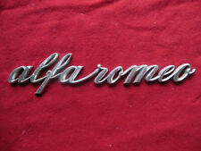 Alfa Romeo GIULIA TI / Giulia Super Used Original Trunk Lid Bomisa SCRIPT BADGE