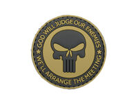 AIRSOFT morale patch  3D - GOD WILL JUDGE  PVC 60mm