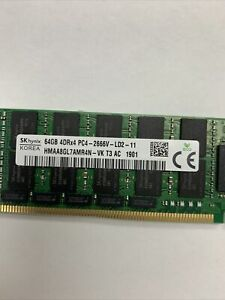 SK hynix 64GB DDR4 PC4 2400 ECC LRDIMM SERVER RAM SINGLE HMAA8GL7AMR4N