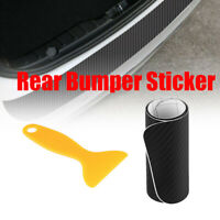 Car Carbon Fiber Rear Bumper Edge Door Protector Strip Sticker Trim Universal